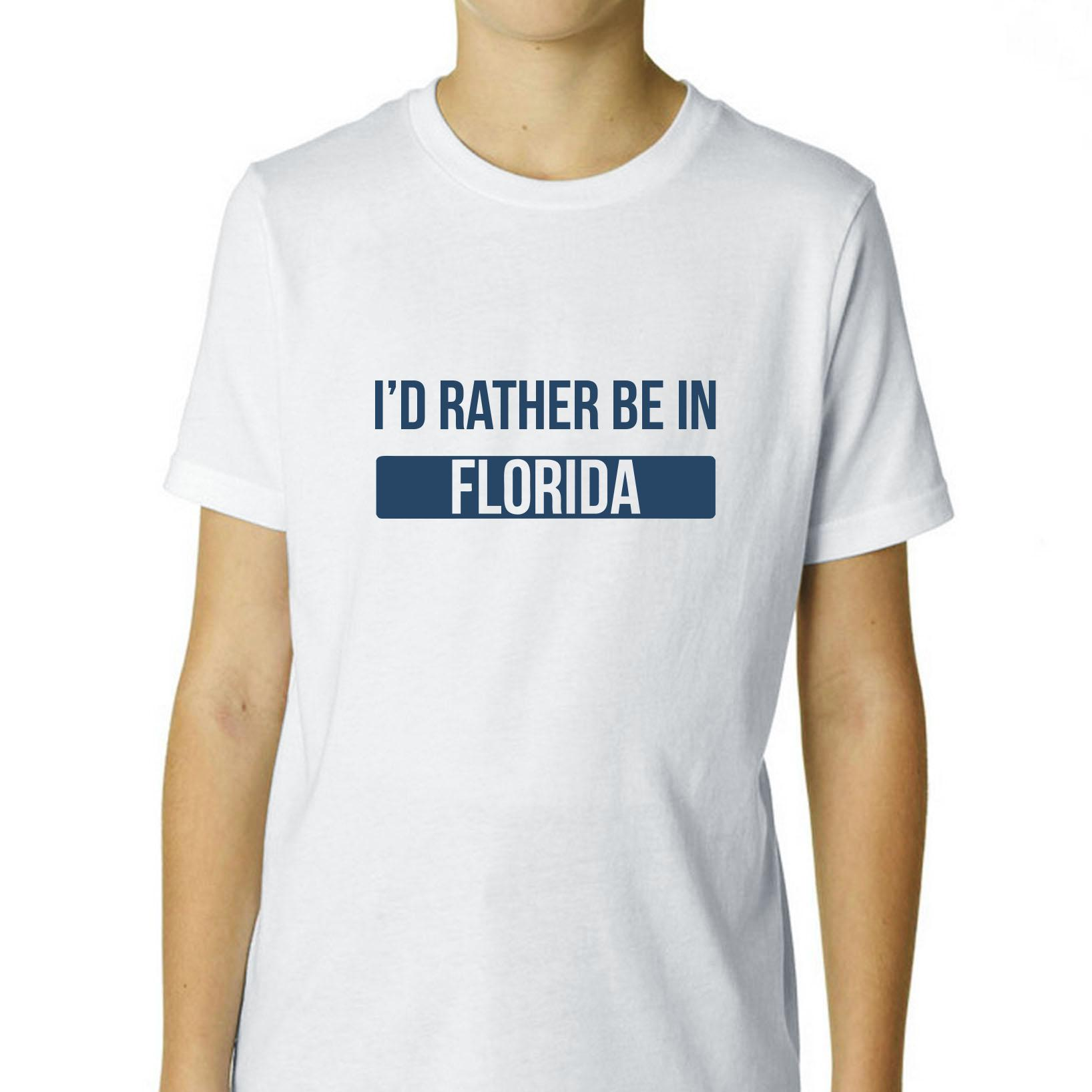I'd Rather Be In Florida State Pride Boy's Cotton Youth T-Shirt