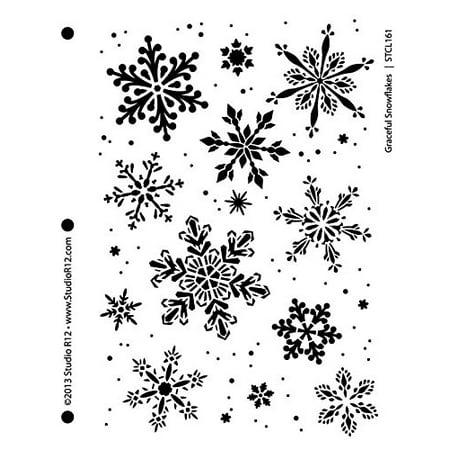 Graceful Snowflakes Stencil - 7 5/8