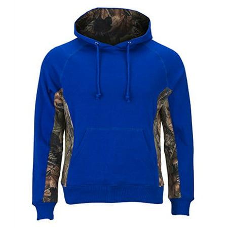 Trail Crest Women's Camo Hooded Sweatshirt, 2X, Blue