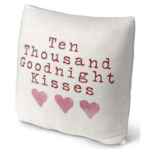KAVKA DESIGNS Ten Thousand Goodnight Kisses Throw Pillow