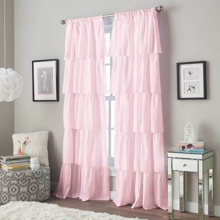 Flounce Tiered Girls Bedroom Curtain Panel - Walmart.com