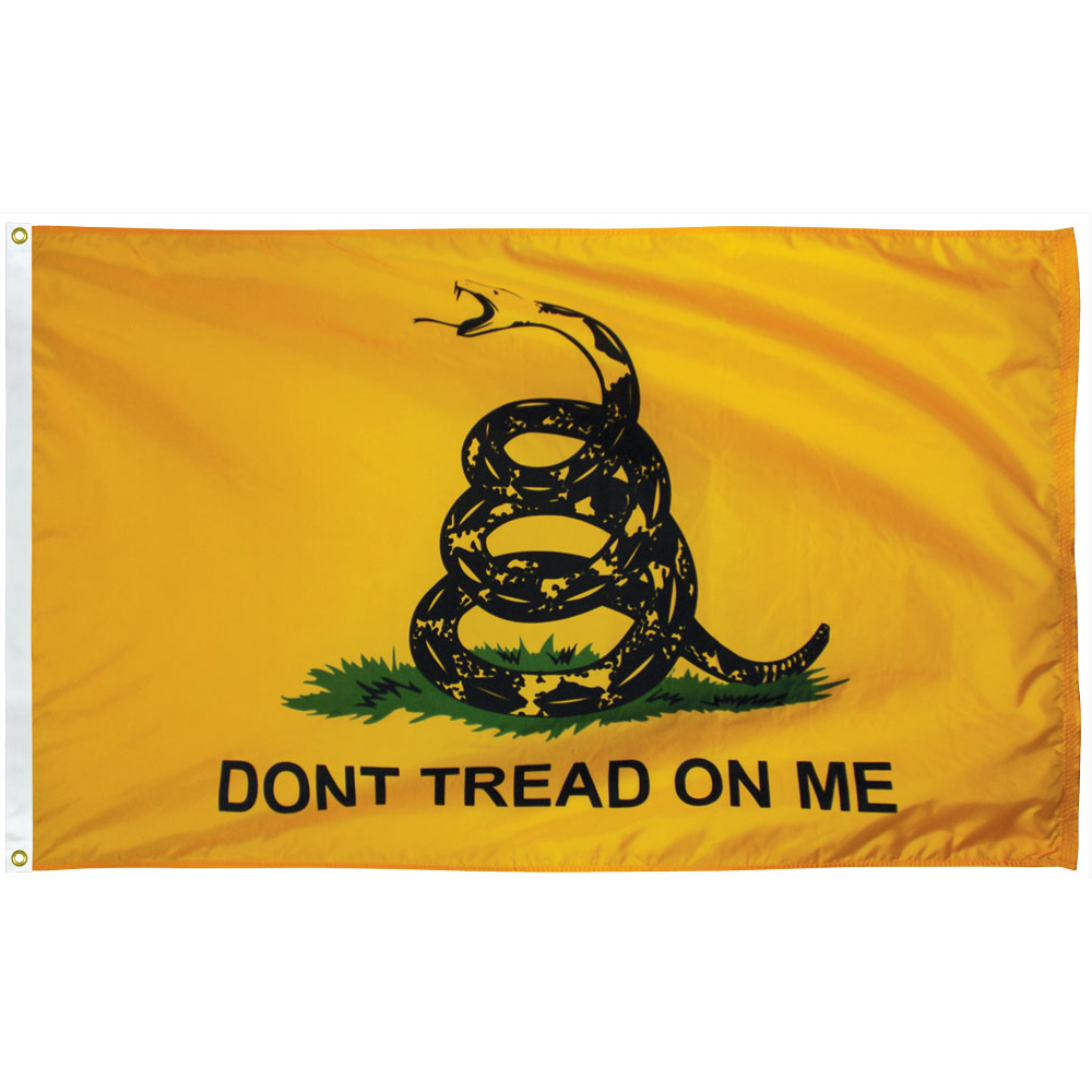 Collins Flags 3' x 5' US Gadsden Flag - Nylon - 100% Made in America