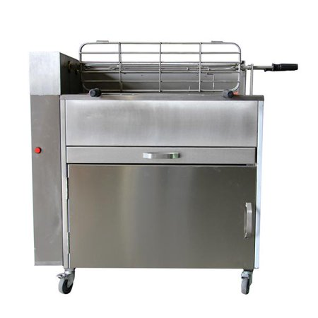 Large Charcoal Rotisserie Grill Aisi 304 Stainless Steel Handmade in Portugal 120/240 Volts Motor