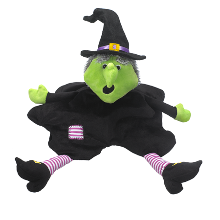 Melting Witch Small Bead Filled Plush Toy - By Ganz - Witch Staff