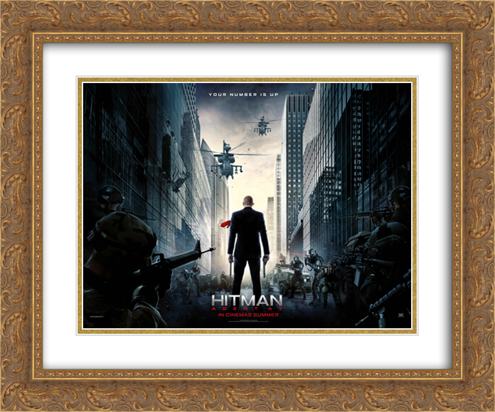 Hitman Agent 47 24x20 Double Matted Gold Ornate Framed Movie