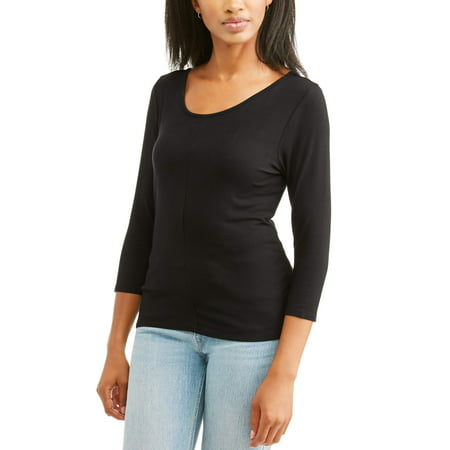 Women's Scoopback 3/4 Sleeve (3/4 Sleeve Cotton Jersey)