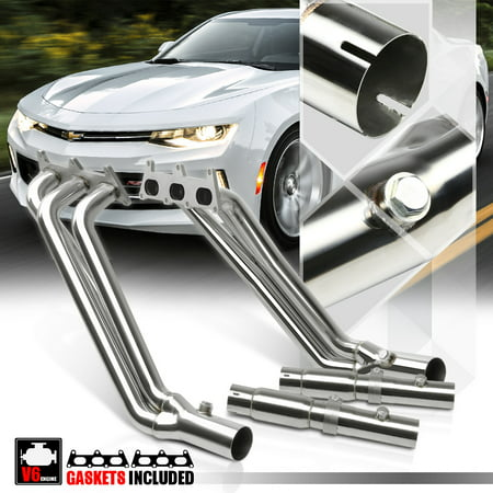 Stainless Steel Long Tube Exhaust Header Manifold for 10-11 Chevy Camaro  3 6 V6