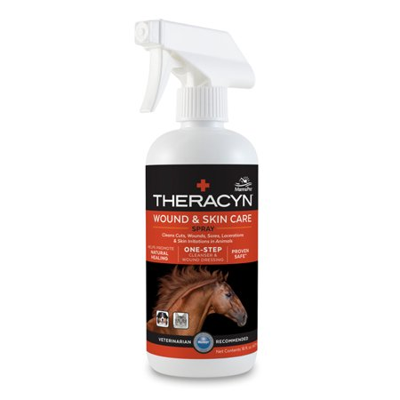 Equine Spray - Manna Pro Theracyn Wound and Skin Care Equine Spray, 16 oz.