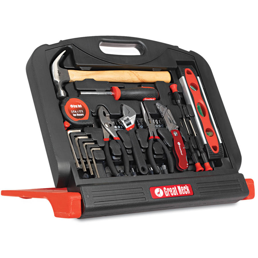 Great Neck Essentials 205pc Home and Garage Tool Kit with 3-Drawer Case