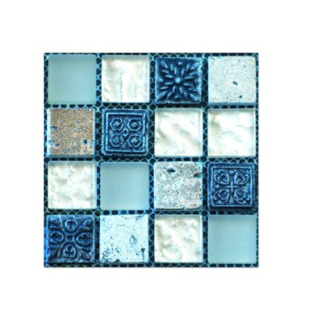 Tile Decals (20Pcs Self Adhesive Tile Floor Wall Decal Sticker DIY Kitchen Bathroom Decor )
