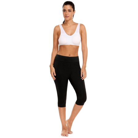 Women Solid Stretch Tights Skinny Capri Legging  HITC