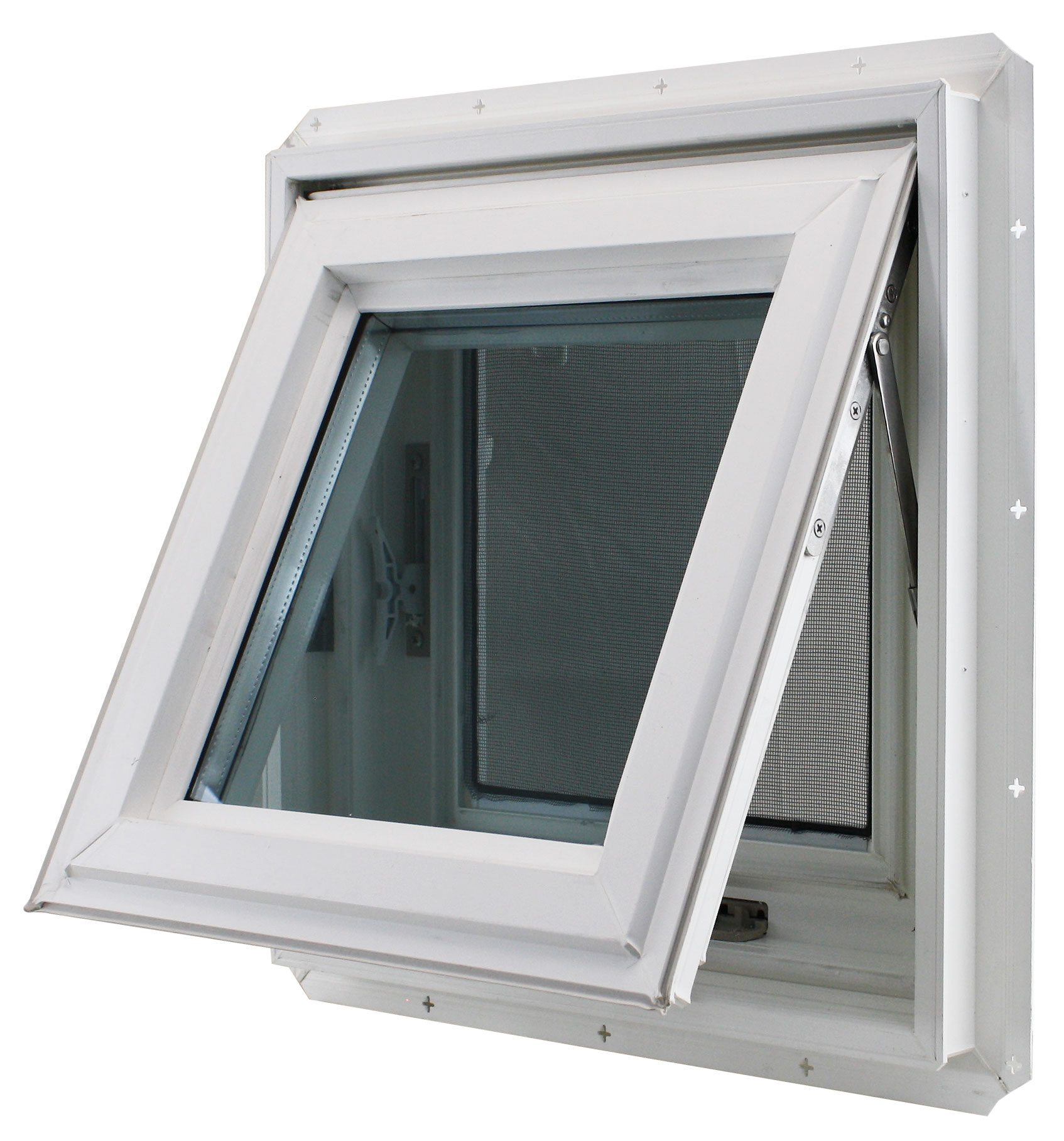 """Double Pane Awning Window 17/"""" x 17/"""" TEMPERED GLASS Window Venting Bathroom"""