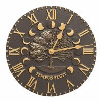 Whitehall Products 1931 12 in. Times & Seasons Clock - French Bronze