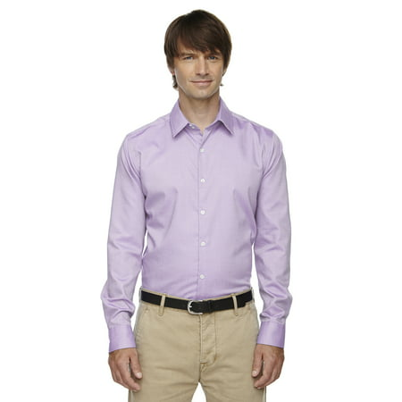 North End Sport Blue 88689 Refine Men's Wrinkle Free 2-Ply 80's Cotton Ryl Bl Oxford Dobby Shirt 100% Cotton Washed Oxford