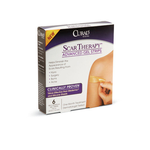 Medline Curad Advance Scar Therapy Strips (Pack of 24)