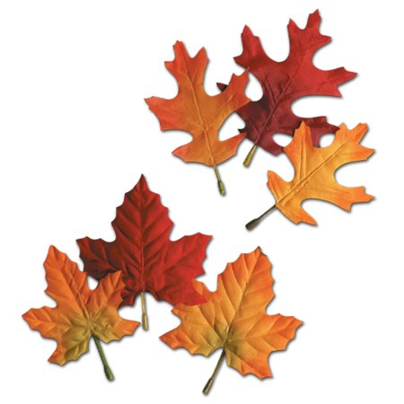 Assorted Leaves - Club Pack 288 Assorted Fall Fun Festive Autumn Leaves Cutout Decorations 5.5