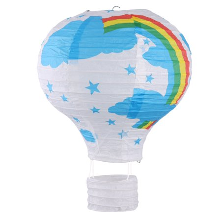 Party Graduation Paper Rainbow Print Decoration Hot Air Balloon Lantern - Party Lanterns