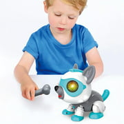 Novobey Robot Dog Toy Dog Robot Dog Toys Remote Control Robot Dog Toy for Kids Robot Dog Toys DIY Electronics Pet Dog