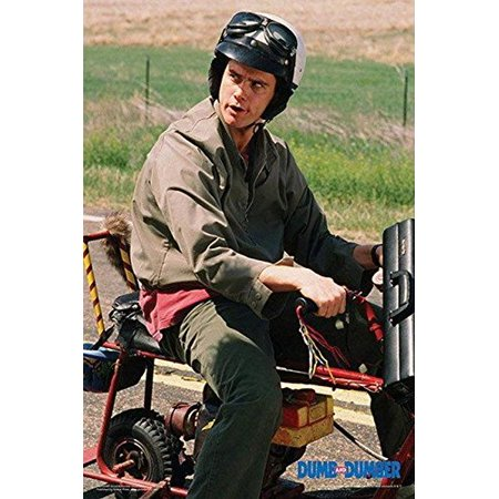 Dumb and Dumber - Lloyd on Motor Bike Scooter 36x24 Movie Photograph Art Print Poster Jim Carrey