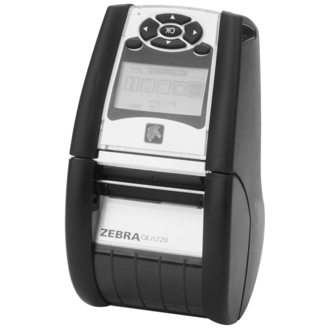 Zebra Technologies - QN2-AUNA0M00-00 - Zebra QLn220 Direct Thermal Printer - Monochrome - Portable - Label Print - 1.90