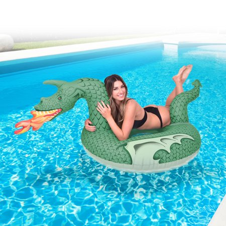 GoFloats Inflatable Fire Dragon Party Tube (Floating Dragon)