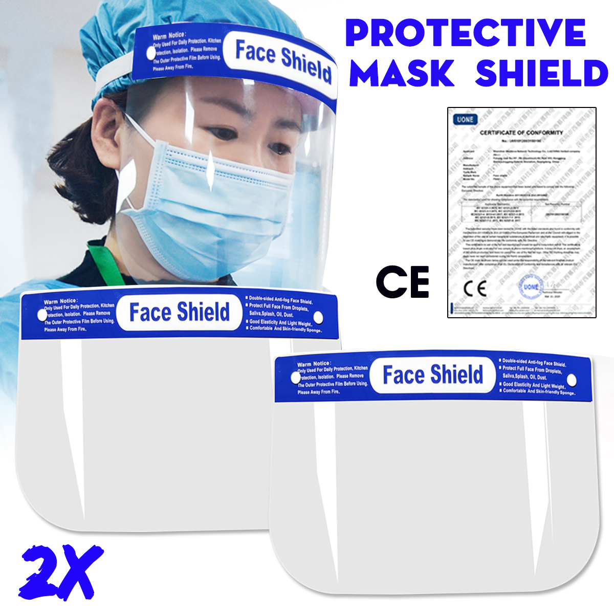 10 Small Kids Children Safety Full Face Shield Anti-Fog Protector Anti-Splash