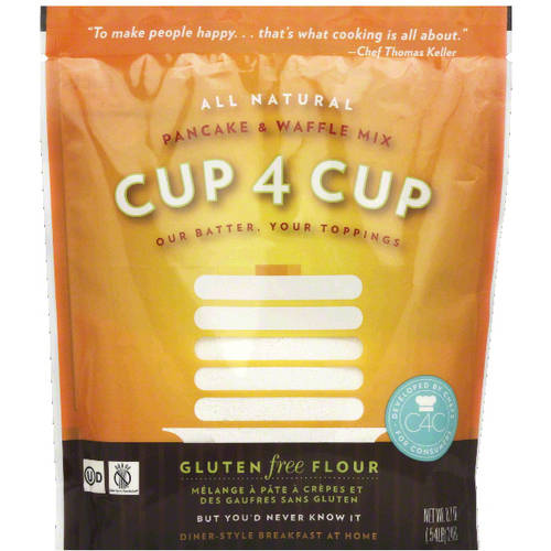 Cup 4 Cup Gluten Free Pancake & Waffle Mix, 8.7 oz, (Pack of 6) by
