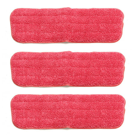 3x Washable Spray Mop Pad Replacement Microfiber Mop Head Household Dust Cleaning For Wood Tile Laminate Floor (Mop not