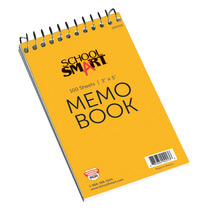 School Smart Top Opening Memo Notebook, 3 x 5 Inches, 100 Sheets