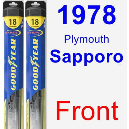 1978 Plymouth Sapporo Wiper Blade Set/Kit (Front) (2 Blades) - Hybrid ()