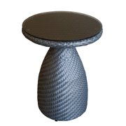 100 Essentials Circle Wicker Patio High Side Table