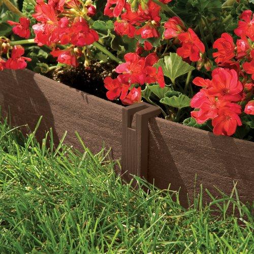 Suncast® CE20 Eco Edge Decorative Lawn Edging, Natural Wood Grain Texture