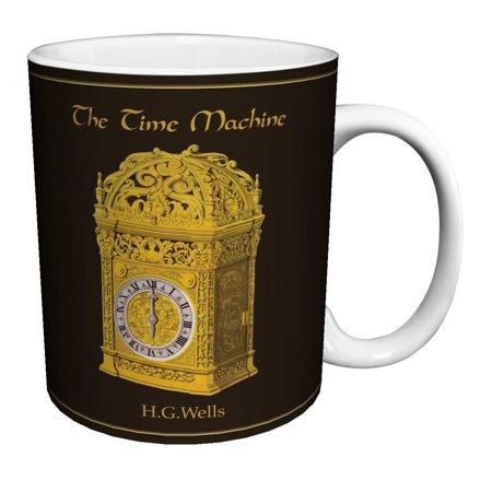 - H.G. Wells Time Machine Classic Literature Literary Vintage Book Cover Art Decorative Ceramic Gift Coffee (Tea, Cocoa) 11 Oz. Mug