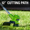 Greenworks 40V 12 in. String Trimmer with 2.0 Ah Battery and Charger, 2111702