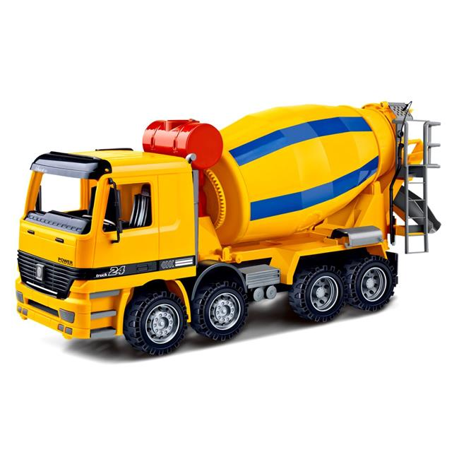 AZImport CT981 14 in. Cement Mixer Construction Vehicle Powered by Friction for Kids by AZImport
