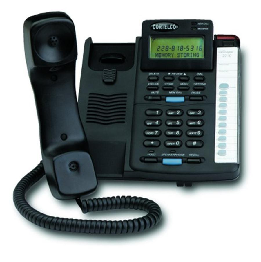 Cortelco Colleague Corded Telephone with Caller ID - Black-ITT-2210-BK