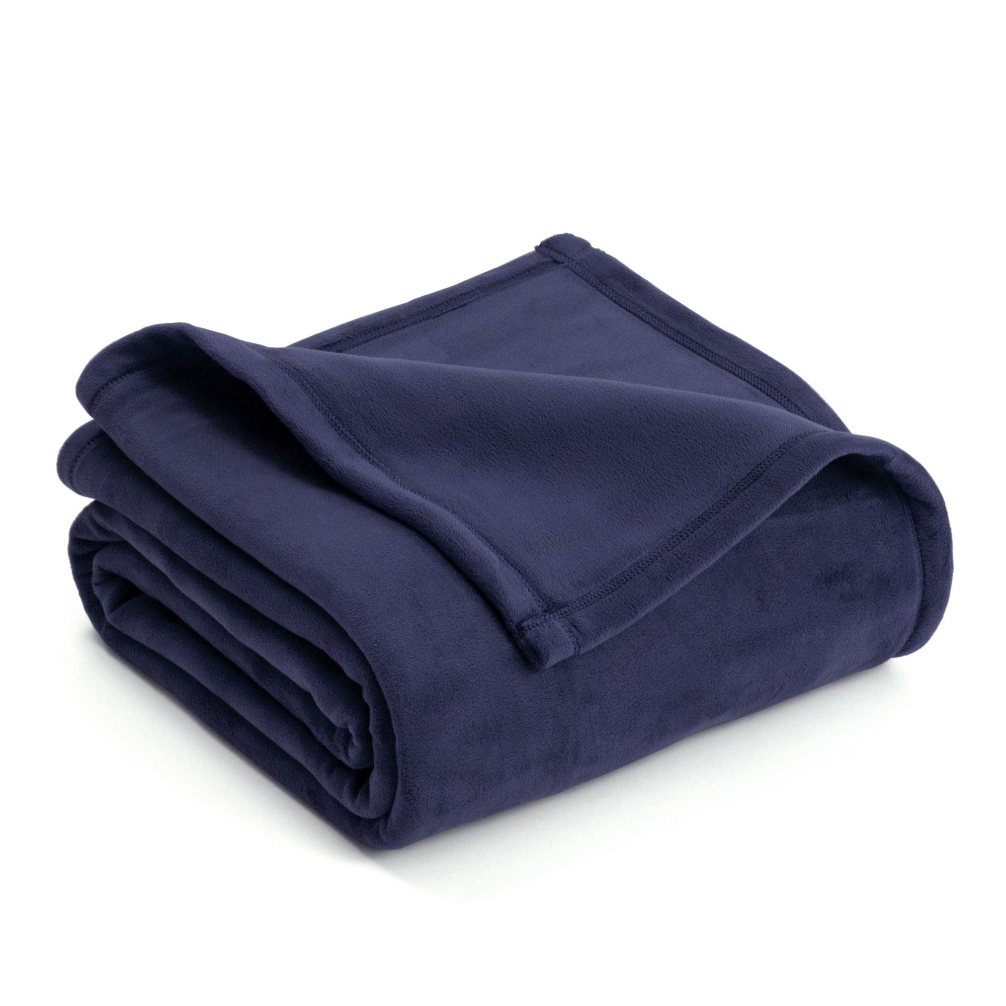 Acrylic Mink Blanket Teddy Treasure BLUE