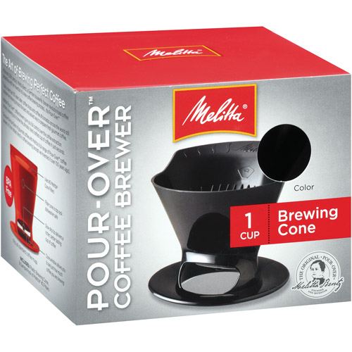 Melitta Pour-Over 1-Cup Brew Cone, Black