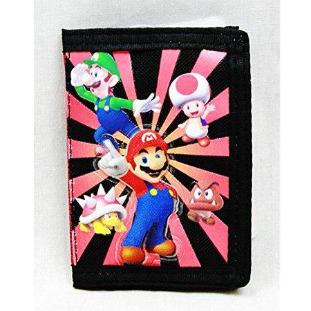 Girls Tri Fold Wallet (Super Mario Boy & Girls Tri-fold Wallet, 4.5x3 (Folded) Cordura Wallet By Nintendo )