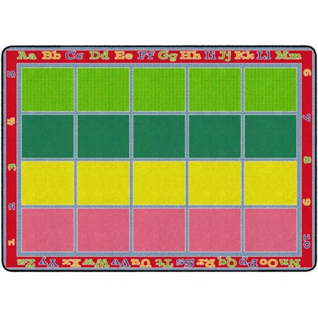 Flagship Carpets FE343-32A 6 ft. x 8 ft. 4 in. Sitting Grid Classroom Rug, Bright - Rectangle](Classroom Rugs Cheap)