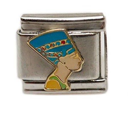 Ancient Egyptian Queen Nefertiti Italian Link Bracelet Charm (Queen Nefertiti Costume Ideas)