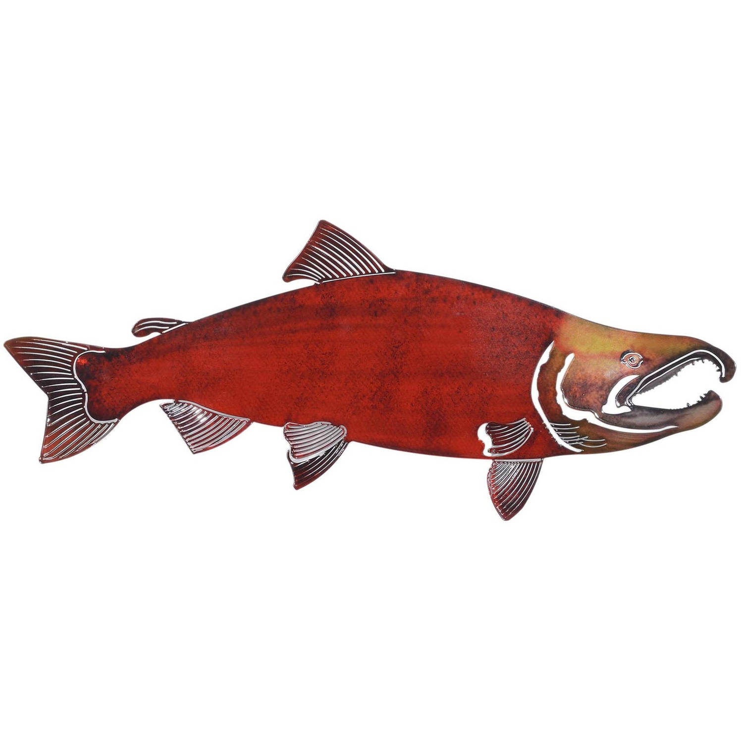 3D Large Soc Salmon Metal Wall Art By Next Innovations