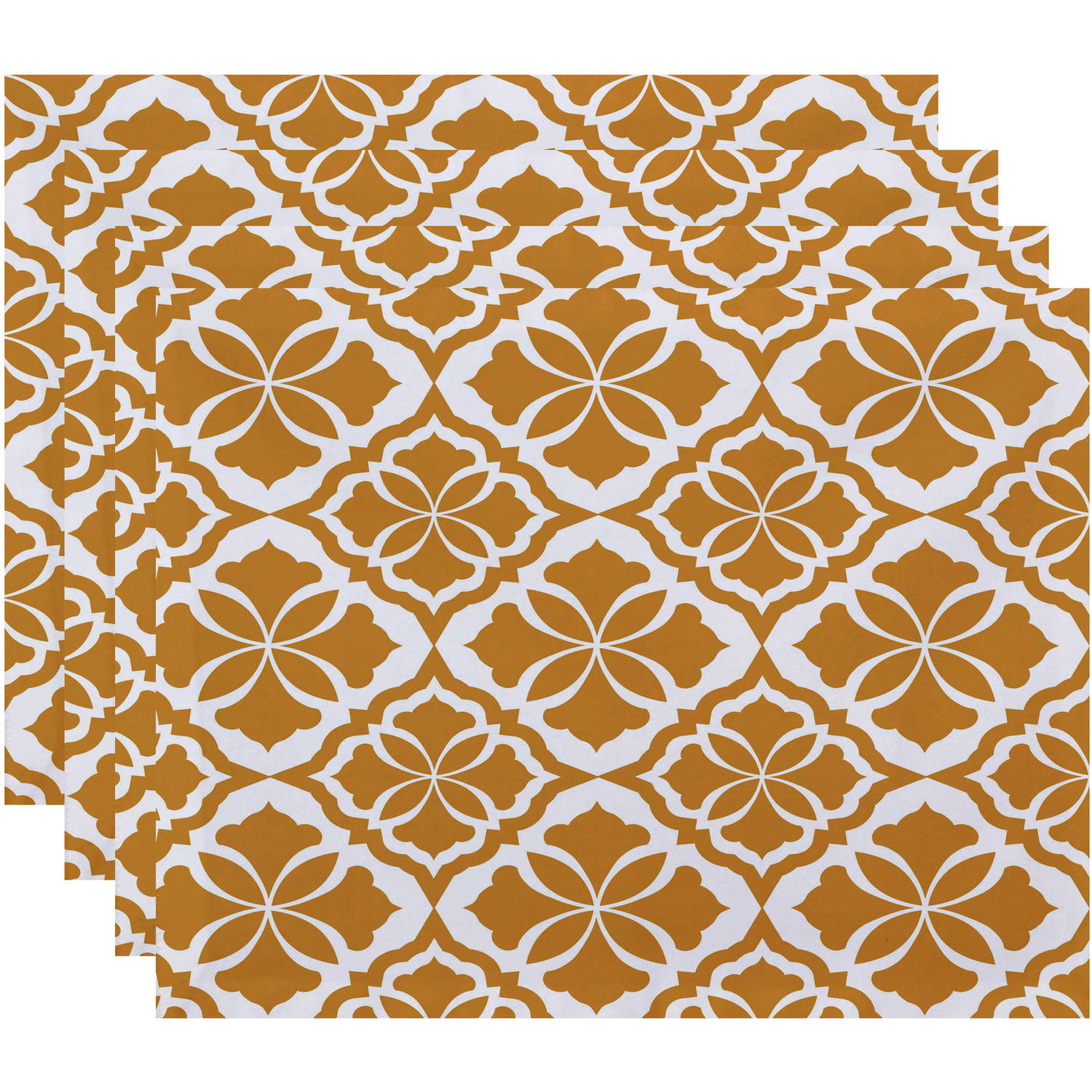 "Simply Daisy 18"" x 14"" Ceylon Geometric Print Placemat (Set of 4) by E By Design"