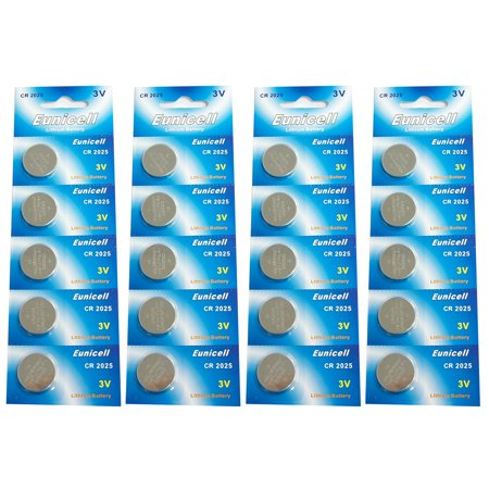Lithium Blister Pack - Eunicell CR2025 5003LC Lithium Blister Pack 3V 3 Volt Coin Cell Batteries (20 pcs)
