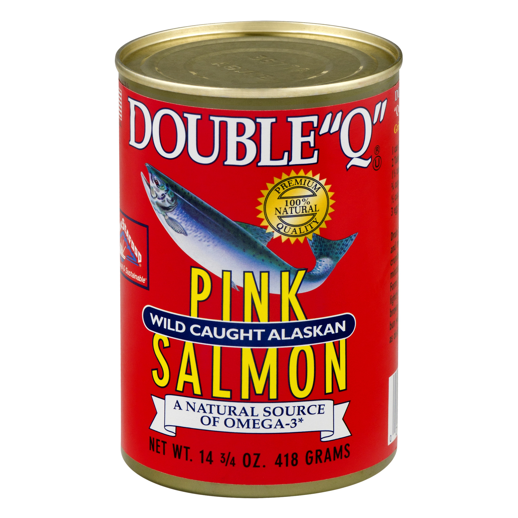 "Double ""Q"" Wild Caught Alaskan Pink Salmon, 14.75 oz Can"