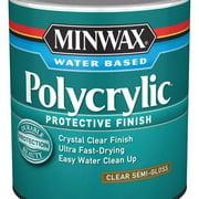 Minwax Polycrylic Protective Finish Clear Semi-Gloss 1-Qt