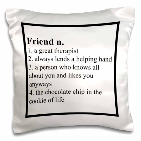 3dRose Definition of Friend saying - Pillow Case, 16 by 16-inch - Pillow Friends