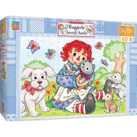 Raggedy Ann & Andy Right Fit - Best Friends 60 Piece Jigsaw (Best Friend Puzzle Piece Tattoo)