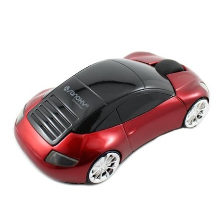 SANOXY RED 2.4GHz Wireless 3D 1600DPI Car Style Optical Usb Cordless Gaming Mouse
