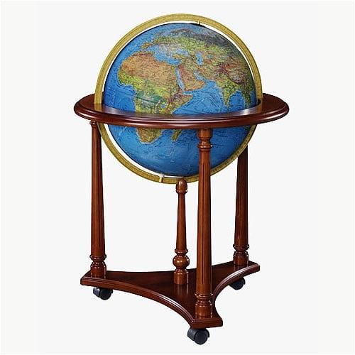 Replogle Globes Lafayette Blue Illuminated World Globe